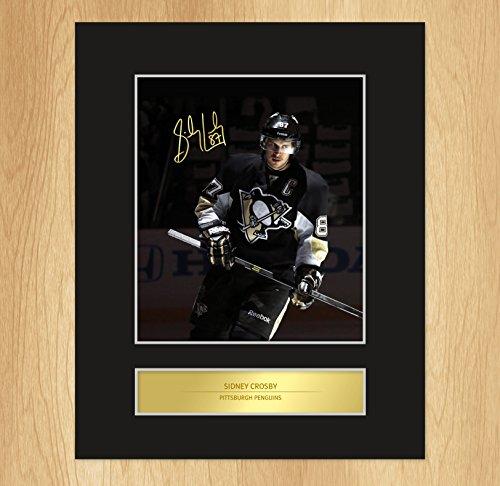 Foto Sidney Crosby Pittsburgh Penguins, signiert, befestigt