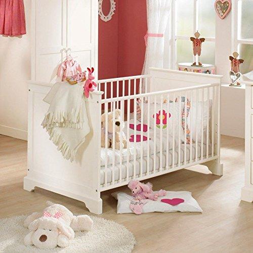 Preisvergleich Produktbild Paidi 1112041 Kinderbett Sylvie mit Comfort Rost, 70 x 140 cm, fichte weiß