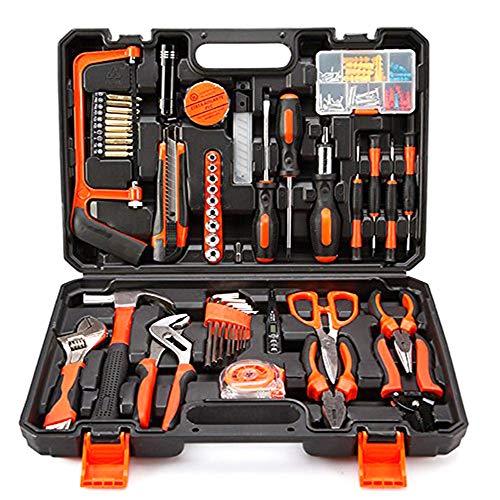 Kimmyer Heimwerker-Tool-Kit, hohe Qualität 102 PCS Haushalt reparieren Mixed Tool Set mit Kunststoff-Werkzeugkasten Aufbewahrungskoffer, den täglichen Gebrauch Hardware-Tool