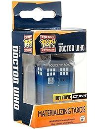 Funko - Porte Clé Doctor Who - Tardis Materializing Exclu Pocket Pop 4cm - 0849803091606