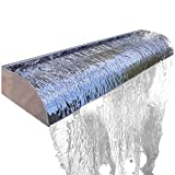 Köhko Wasserfall Victoria 30-90 cm aus Edelstahl Hochglanz Aquafall Länge: 30 cm