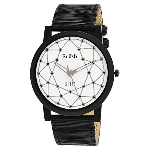 RELISH RE-S8016BW SLIM White Dial Analog Watch For Mens & Boys