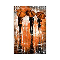 Portrait Three Umbrellas By Leonid Afremov Oil Painting Re-Print Abstract Art Poster Wall Decoration Pictures