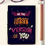 #7: Handmade Diary/Handmade Pocket Notebook (10 cm x 14 cm)/Be The Best Version Of You Handmade Printed Small Diary