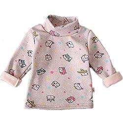 KAYLEY Pull Noel Enfants bébé garçon, Impression 3D Sweat À Manches Longues Toddler Filles Pulls Tops Plus Épais T-Shirt Unisexe Mignon Automne Hiver 0-4 Ans