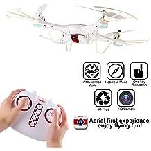 Cámara de Syma X5UC Drone 4CH 2.4G control remoto Quadcopter 6-Axis Gyro RC sin cabeza Quadcopter HD Ajuste de altura del helicóptero del UFO con el último de una tecla de despegue / aterrizaje función blanco