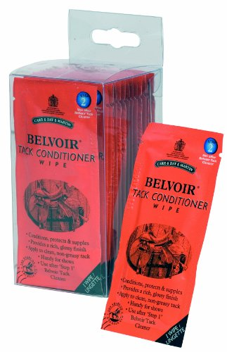 Belvoir Tack Conditioner Wipes - 15 Pack Equine Horse 1