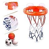 CGRTEUNIE Bath Toy Fun Canestro da Basket e Basket Calcio Baseball Toys Playset Vasca da Bagno Gioco di tiro per Bambini Divertimento Vasca da Bagno educativa Giocare Vasca da Bagno Giocattolo Regalo