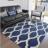 WUCONG Amerikanischer Handgemachter dreidimensionaler Wohnzimmer-Kaffee-Tabellen-Teppich-Auflage-Schlafzimmer-Bettdecke-gepflasterte Reizende Prinzessin Custom Modern Minimalist
