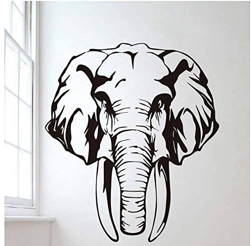 xlei Etiqueta De La Pared Elefante Animal Africano Pegatinas De Pared Vivero Extraíble Vinilo Tatuajes De Pared Arte Impermeable Mural Decoración para Niños para Niños R58X66Cm