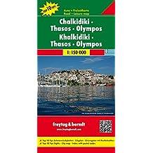 Chalkidiki - Thassos - Olympos, Autokarte 1:150 000, freytag & berndt Auto + Freizeitkarten