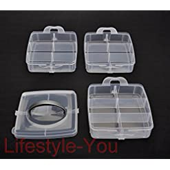 Lifestyle You 3 Tier Clear Plastic Organiser Storage For Tools