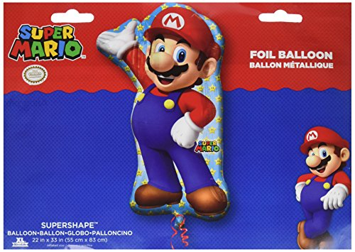 amscan 3201001 22 x 84 cm Super Mario Super Form Dekoration Set