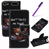 iPod Touch 5 6th Funda,EMAXELERS Moda Synthetic PU Cuero Billetera Tipo Iman Dise?o Flip Stand Funda Cover Para Apple iPod Touch 5 6th Generation + Se
