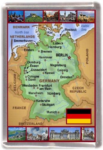 Kühlschrankmagnet Deutschland landkarte Geschenk Tourist Souvenir - Magnet Kühlschrank Deutschland