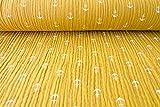 Qualitativ hochwertiger Musselin Baumwollstoff in Senf mit