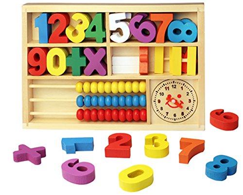 Youkara 1 PC Digital Learning Digital Box Bloques de Madera Abacus Wooden...