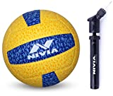 Nivia G 20-20 Volleyball (Yellow/Blue) and Nivia Ball Pump Double Action