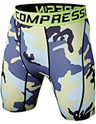 Short De Compression - Pantalon De Camouflage - Tight Cuissard Homme