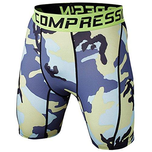 Pantalones Camuflaje Cortos De Compresión Running Para Hombre M