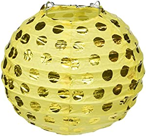 Amscan International-249000-0912cm Sunshine amarillo caliente con sello Paper Lanterns