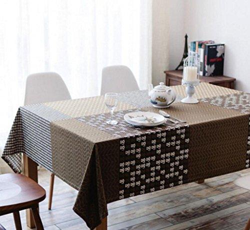 nappe de table Européenne simple coton nappe tissu couverture table nappe table basse tissu café Western restaurant résistant aux taches table tissu 120 * 160 cm Tapis de table