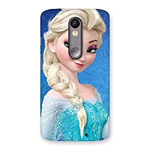 Cute Winked Princess Freez Multicolor Back Case Cover for Moto X Force