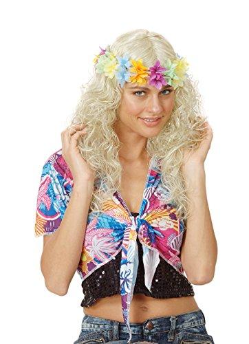 Rire Et Confetti - Fiehaw009 - Accessoire Pour Déguisement - Perruque Frisée - Collier + Cheveux - Blond