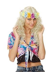 Reír Y Confeti - Fiehaw009 - Disfraz de accesorios - peluca rizada - collar de pelo - Rubia