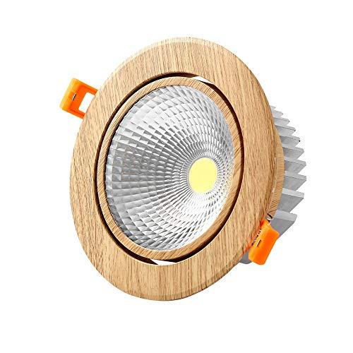 Modenny 5W7W12W Luces empotradas redondas de aluminio ultra brillantes Proyectores Ahorro de...