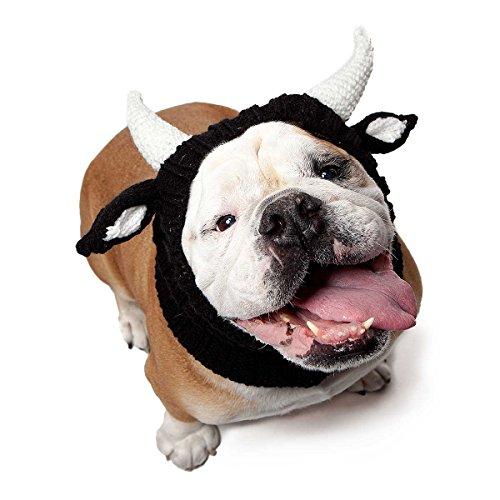 Zoo Kapuzenschal die Original Knit Bull Dog Snood, groß (Bull Horn Dog Kostüm)