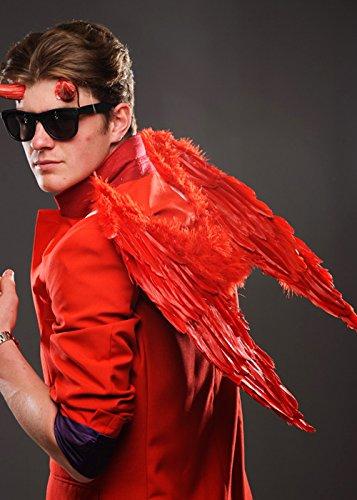 Magic Box Int. Dämonen-Rote Feder-Gotische Engels-Flügel der Männer (Gefallener Engel Kostüm Männlich)