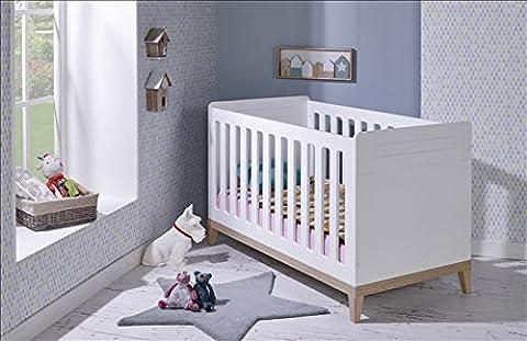 Lit bébé à barreaux évolutif Bébé Provence collection 'Evidence' 70x140 - Blanc