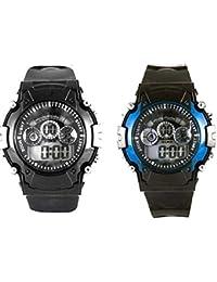 Capture Fashion Black PU Digital Watch - Pack of 3