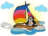 Unbekannt Wandlampe Holz - der kleine Maulwurf - Lampe mit Schalter für Kinder - Kinderzimmer Kinderlampe Wandleuchte Boot Segelboot