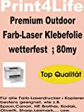 10 Blatt DIN A4 SELBSTKLEBENDE wetterfeste (Farb)-Laserfolien in klar-transparenter Ausf�hrung mit farblosem, nicht vergilbendem, hitzestabilem Kleber. Bild