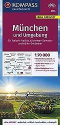 KOMPASS Fahrradkarte München und Umgebung 1:70.000, FK 3334: reiß- und wetterfest mit Extra Stadtplänen: reiß- und wetterfest mit Extra Stadtplänen. ... Deutschland, Band 3334)