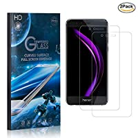 MoKiin Tempered Glass Screen Protector for Huawei Honor 8, Ultra Thin, 9H Bubble Free Screen Protector Film, HD Screen Protector, Easy Installation, 2 Pack