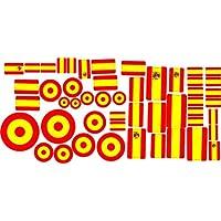 Oedim Pegatina Lote Banderas España 30 x 15 cm | Adhesivo de Facil Colocación | Pegatina Económica y Resistente