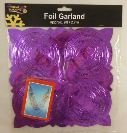 9ft Lila Foil Garland Weihnachtsdekoration