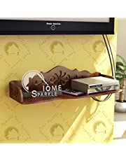 Home Sparkle Carved Engineered Wood Wall Shelf (60 cm x 23 cm x 14 cm,)
