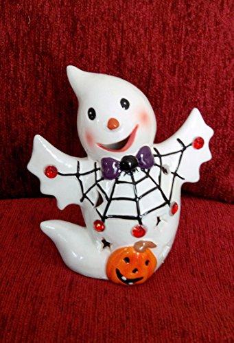 t LED beleuchtet Keramik Figur bis Dekoration, keramik, Pumpkin (Led Pumpkin Ghost)