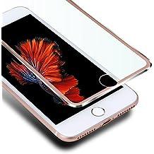 "iPhone 6s Plus Protector de Pantalla, VIUME 3D Pantalla Completa iPhone 6 Plus Cristal Vidrio Templado Pantalla protectora 5.5""(Metal Oro Rosa)"