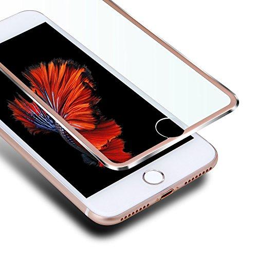 """VIUME Panzerglas Schutzfolie Kompatibel für iPhone 6 Plus/6s Plus, Rundum Schutzglas 3D [ Full Screen Display Schutz ] Premium Displayschutzfolie Glasfolie 9H Panzerfolie 5.5\""""(Metall Rose Gold)"""