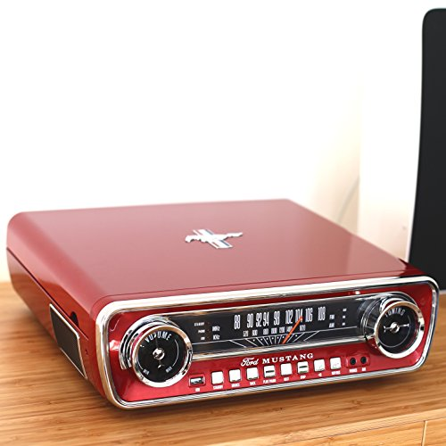 Ion audio mustang lp giradischi con radio altoparlanti for Radio con chiavetta usb