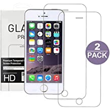 Cristal Templado iPhone 5S 5C 5 SE, TYJTECH 2-Pack Vidrio Templado Protector de Pantalla de Cristal Templado Superior de Película