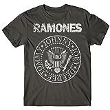 LaMAGLIERIA Camiseta Hombre Ramones - Grunge Print Camiseta 100% algodòn, L,...