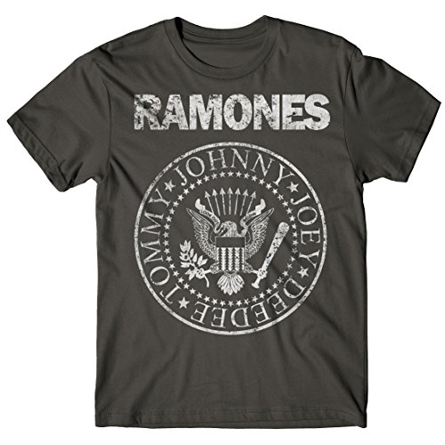 LaMAGLIERIA Camiseta Hombre Ramones - Grunge Print Camiseta 100%...