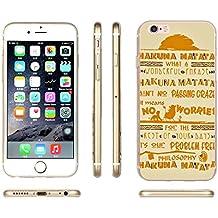 Phone Kandy® Cotizaciones Famosas Disney Dr Seuss TPU Soft gel de silicona Cute Case / Cover & Screen guard - Prime (iPhone 6 PLUS, Hakuna Matata)