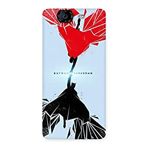 Gorgeous Day Vs Knight Punch Multicolor Back Case Cover for Canvas Knight A350